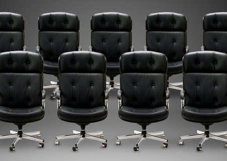 Black armchair, good concept for free position, good career, out of box and peace of mind. Stock Photo - 16822761