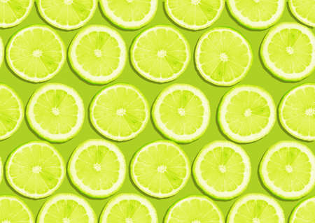 seamless background of fresh lemon slices  photo