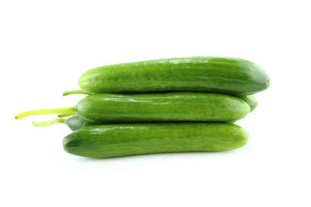 Fresh Cucumber on white background.  with a clipping path photo