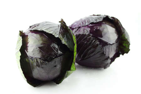 fresh red cabbage on a white background  photo