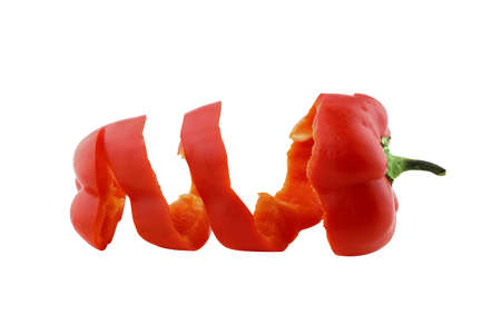 sweet bell pepper on white background  with a clipping path photo