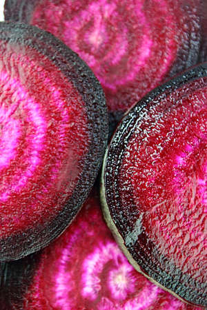 rote: Beetroot sliced background.