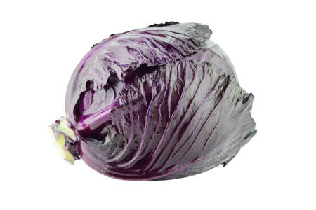 jhy: fresh red cabbage on a white background  with a clipping path Stock Photo