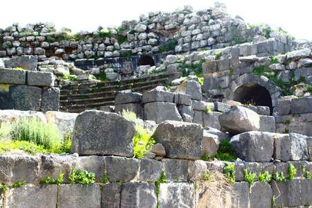 umm: Umm Qais Theater, Gadara City north-west of Jordan  Stock Photo