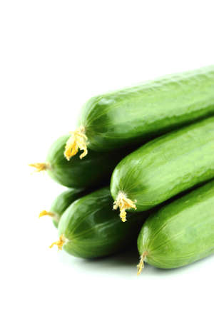 Fresh Cucumber on white background. Stock Photo - 20676900