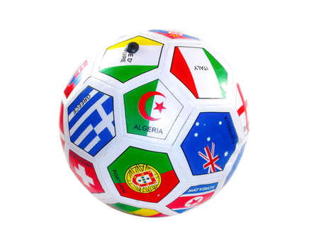 soccer ball with flags from the countries   photo