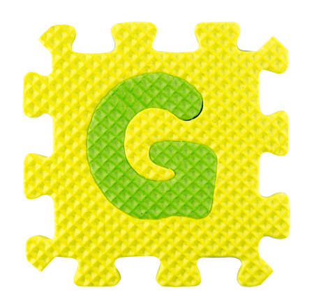 G letter, Alphabet puzzle isloated on white background. Stock Photo - 22341647