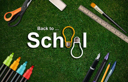 Welcome Back to school background .