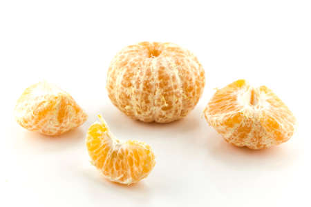 Fresh tangerine with leaves isolated on a white background Stock Photo - 22342031