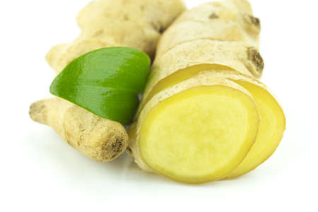 Fresh Ginger root on a white background Stock Photo - 22342118
