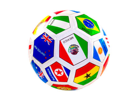 soccerball: soccer ball with flags from the countries  (with clipping work path)