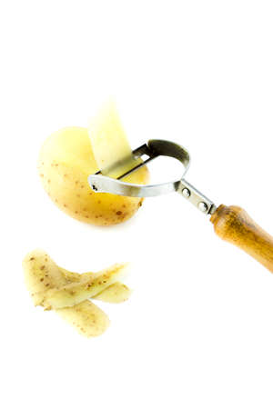 peeling for vegetable in potato  photo