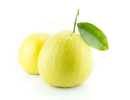 Bergamot oranges on white background Stock Photo