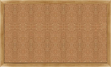 Blank Cork board with wooden frame  photo