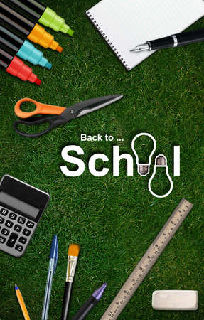 Welcome Back to school background . photo