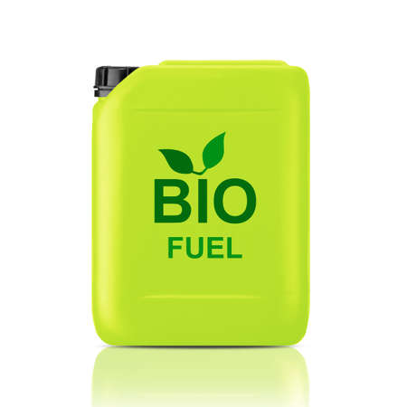 biofuel: Green Gallon of bio fuel, environment conceptual design.  (with clipping work path)
