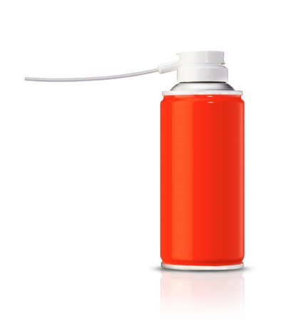 Aluminum spray can, you can use it as painting spray can or Insecticide can. (with clipping work path) photo