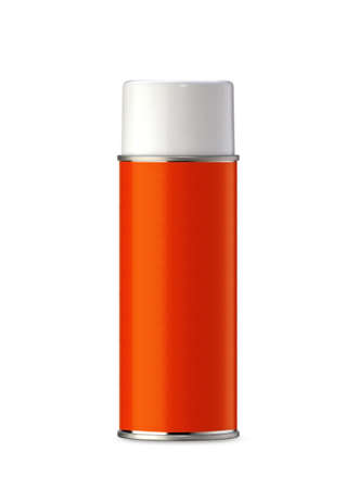 cfc: Aluminum spray can, you can use it as painting spray can or Insecticide can. (with clipping work path) Stock Photo