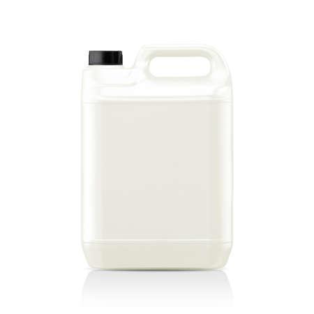 Galón plástico blanco, bidón aisladas sobre un fondo blanco. (Con trazado de recorte) Foto de archivo - 23518485