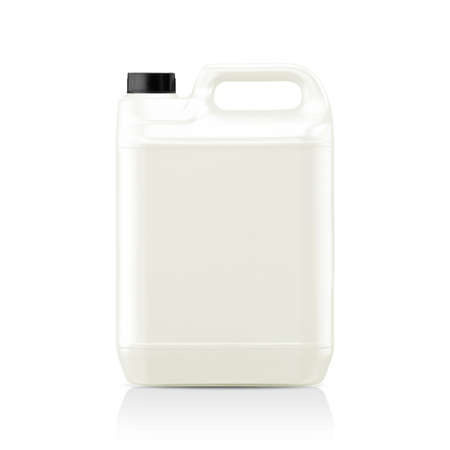 White plastic gallon, jerry can  isolated on a white background.  (with clipping work path) Stock Photo - 23518485