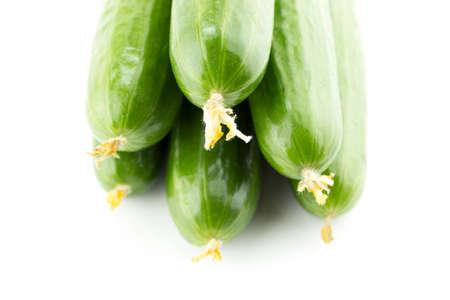 Fresh Cucumber on white background. Stock Photo - 24050203