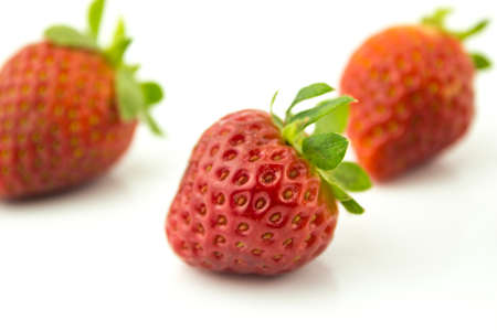 Strawberries isolated over white background  photo