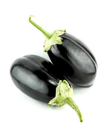 vegetables white background: fresh eggplant vegetable on white background .