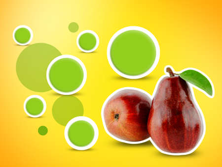 Design for Red Pear . photo