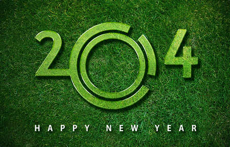 Happy new year 2014, with ecology concept for 2014 year, the same concept available for 2015, 2016 and 2017 year. photo