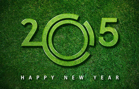 Happy new year 2015, with ecology concept for 2015 year, the same concept available for 2016 and 2017 year. photo