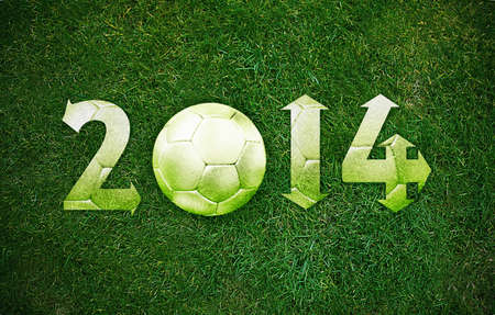 Happy new sport year 2014 with Football, the same concept available for 2015, 2016 and 2017 year. photo