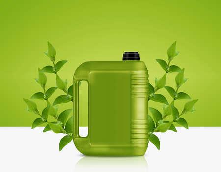 biofuel: Green Gallon of bio fuel, environment conceptual design. Stock Photo