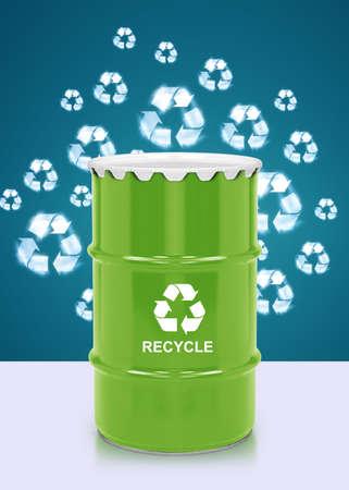 Green barrel of bio fuel, environment conceptual design. photo