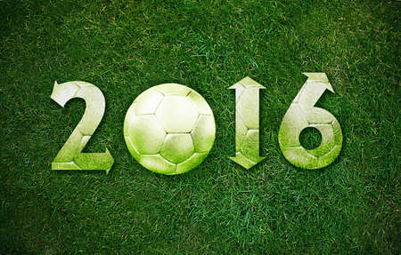 Happy new sport year 2016 with Football, the same concept available for 2017 year. photo