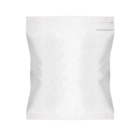 White Blank Foil Food Bag Packaging For Pepper, Spices, Sachet, Chips.    photo