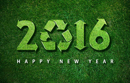 Happy new year 2016, with ecology concept for 2016 year, the same concept available for 2017 year. photo