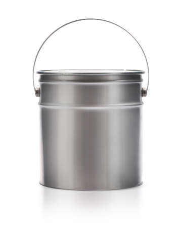gallon: Metal painting Pail isolated on white