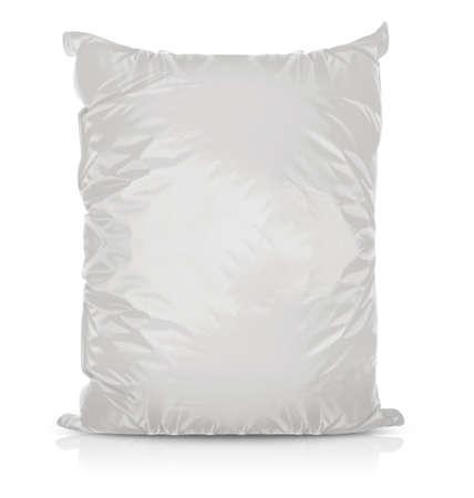 후추, 향신료, 향 주머니, 칩 흰색 빈 포일 음식 부대 포장. 귀하의 디자인에 대 한 플라스틱 팩 템플릿 준비. (클리핑 작업 패스와 함께)
