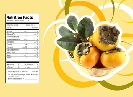 basic shapes:  nutrition facts Stock Photo
