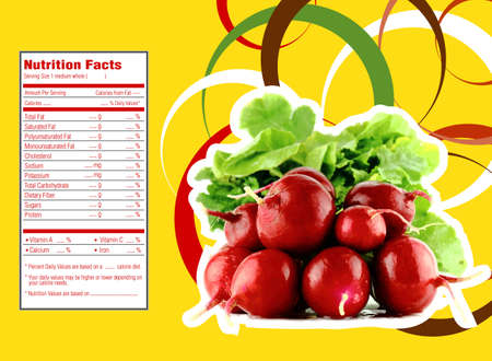 horticultural:  radish  nutrition facts Stock Photo