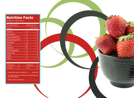 facts: strawberry nutrition facts Stock Photo