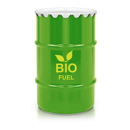 biofuel: Green barrel of bio fuel, environment conceptual design.   Stock Photo