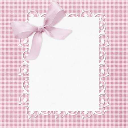 Baby girl arrival card with copy space to add text. photo