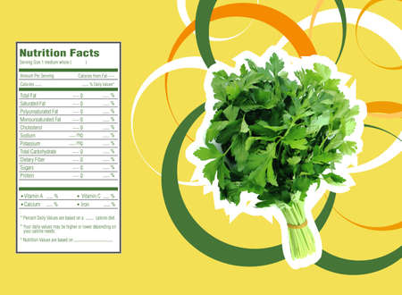 facts: Parsley nutrition facts Stock Photo