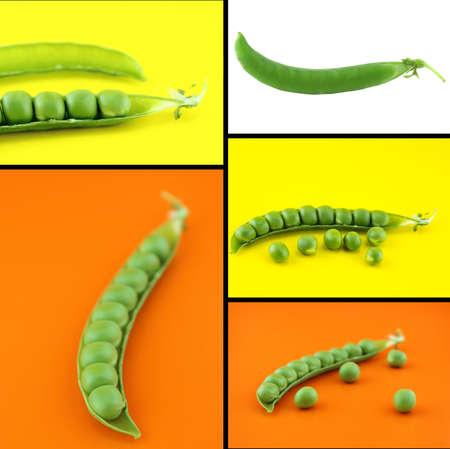 Healthy and organic food, Set of fresh pea. photo
