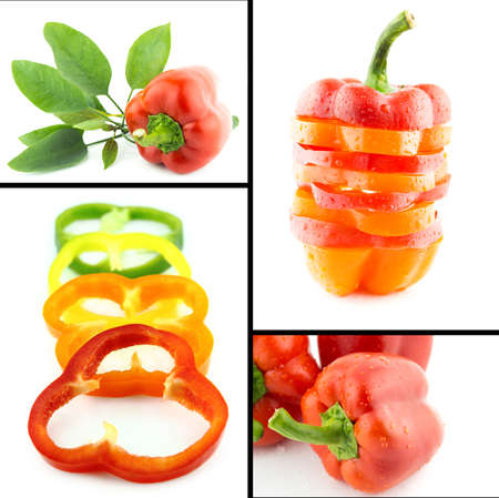 Healthy and organic food, Set of fresh  colorful sweet bell pepper.. photo