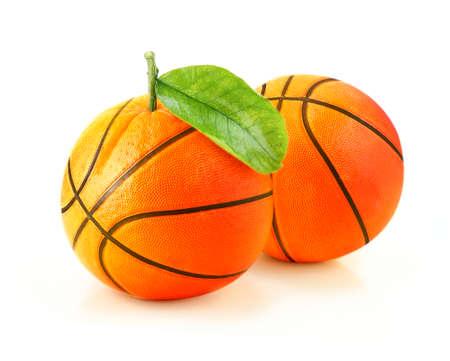Orange basketball! creative concept. photo