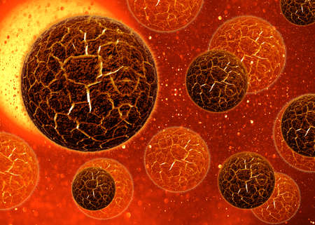 3d cell virus, Bacteria background. photo