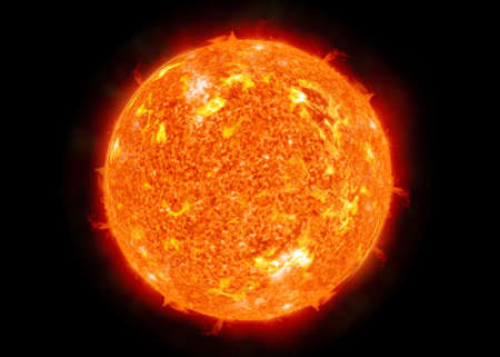 The sun in space. photo