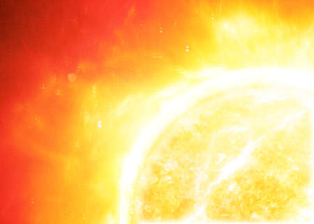 sol radiante: El sol en el espacio.